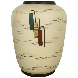 Vintage 1960s Ceramic Pottery Vase by Sawa Ceramic Franz Schwaderlapp, Germany