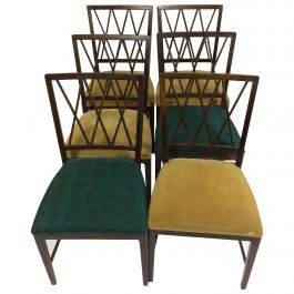 1950 Set of Six Ole Wanscher Dining Chairs in Tanned Beech