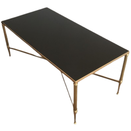 MAISON JANSEN ST. NEOCLASSICAL BRASS COFFEE TABLE