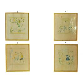 Four Water Colour Sketches by Giulio Rosso, 1936