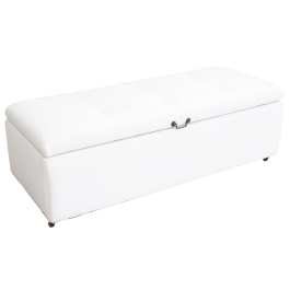 A 19th Century Ottoman with Antique White Linen Covering