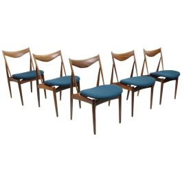 Walnut Sculpted Dining Chairs