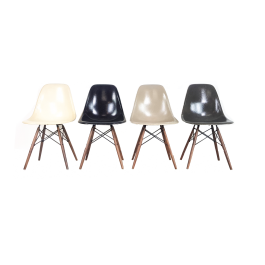 Eames Herman Miller Dsw Side Chairs In Monochrome - Black / Grey / Greige / Parchment