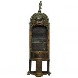 Antique Niche Statue Display Tower French Chateau Chapel Walnut, 18th Century
