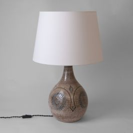 Table Lamp By The Søholm Workshop. Stoneware. Denmark, 1960s