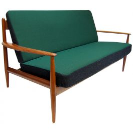 1950s Danish Sofa in Teak & Kvadrat by Grete Jalk