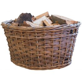 An Oval Wicker Log Basket