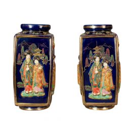 Antique Pair of Japanese Vases, 20th Century