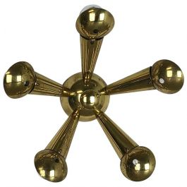 Brass Italian Stillovo Style Theatre Wall ceiling Light Sconces, Italy, 1950s