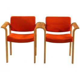 1970s Rud Thygesen and Johnny Sorensen Conference 61 Series Armchairs in Oak