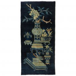 Chinoiserie Rug Vintage Art Deco Chinese