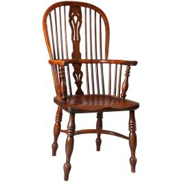 19th Century Yew Wood Windsor Chair