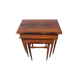 Kai Kristiansen Mid century rosewood nesting coffee table set