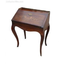 19th Century Rosewood French Ladies Bureau