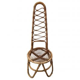 Mid-Century Modern Bamboo and Rattan French Riviera Chair, 1960s