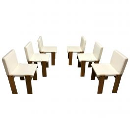 Tobia & Afra Scarpa for Molteni Monk Chairs, Set of 6, 1970s