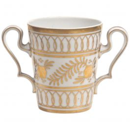Limoges Porcelain and Gilt Loving Cup Posy Vase