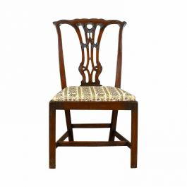 Set of Six 1900 Victorian Dining Chairs Chippendale Taste