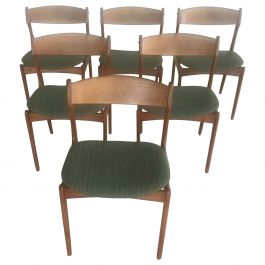 Set of Six Refinished Danish Erik Buch Dining Chairs in Teak, Inc. Reupholstery