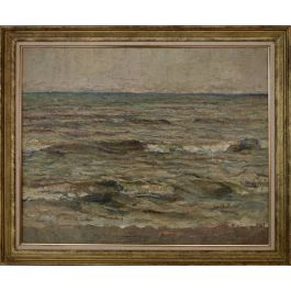 French Post-impressionist Seascape Oil Painting 1931