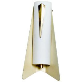 Mid-Century Modern Italian Wall Sconce Aluminum and Glass