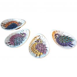 1960s Set Of 4 Small Plates By Beth Breyen