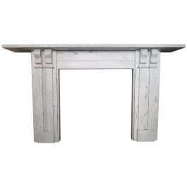 Antique William IV Marble Fireplace Mantel