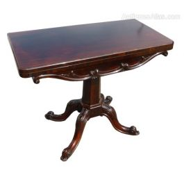 Victorian Rosewood Card Table