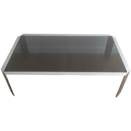 Nice Octogonal Chromed Coffee Table With Black Top