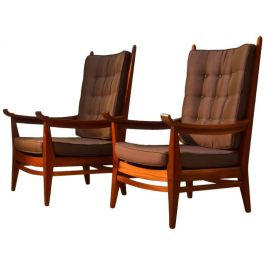 Pair of Rare Modernist Lounge Chairs
