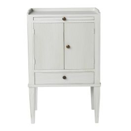 Gustav Bedside Cabinet with Pull Out Shelf