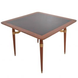 Mexican Modernist Game or Dining Table in Mahogany Wood