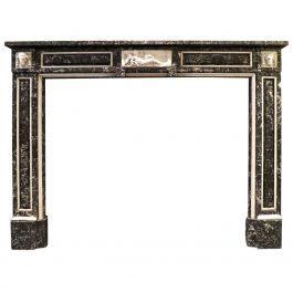 19th Century French Louis XVI Style Marble Fireplace