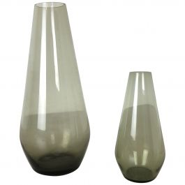 Vintage 1960s Set of 2 Turmaline Vases by Wilhelm Wagenfeld for WMF, Germany