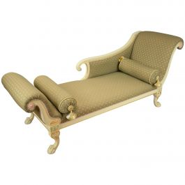 Large Victorian Style Chaise