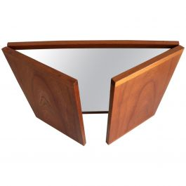 Danish Teak Foldable Wall Mirror by Kai Kristiansen for Aksel Kjersgaard, 1960s