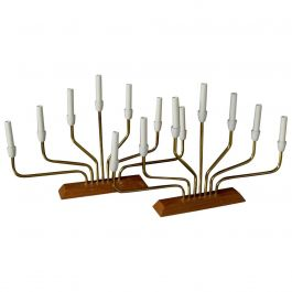 Menorah Table Lamps Danish Modern