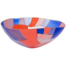 Contemporary Art Glass Bowl