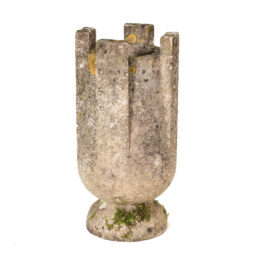 An unusual Modernist weathered marble urn