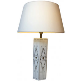 NEOCLASSICAL STYLE WHITE LACQUERED TABLE LAMP