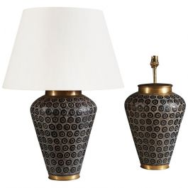 A Pair Of Large Punched Metal Lamps