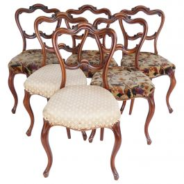 Set of 6 19th Century English Victorian Dining Chairs