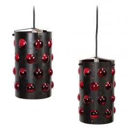 Pair of Cylinder Shaped Ceiling Lamps, Danish Design
