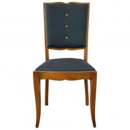 Six Art Deco Dining Chairs Moustache Back to Restore Recover French, circa 1930