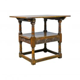Antique Monk's Bench Metamorphic Table Chair English Oak, 18th Century and Later