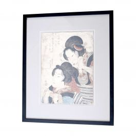 19th Century Original Beautiful Wood Block Print By Keisai Eisen