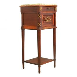 French Side Cabinet Nightstand Bedside Table Late 19th Century Louis XVI