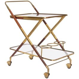 Italian Modern Brass Bar Cart