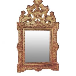 Louis XIV Regency Gilded Wood Mirror