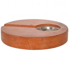 Mid-Century Modern Leather Wrapped Ashtray Attributed to Diego Matthai Tobacco